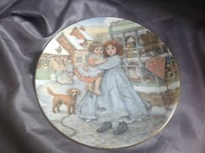 Royal-Worcester-Collectable-Nspcc-Christmas-Plate-1987-love