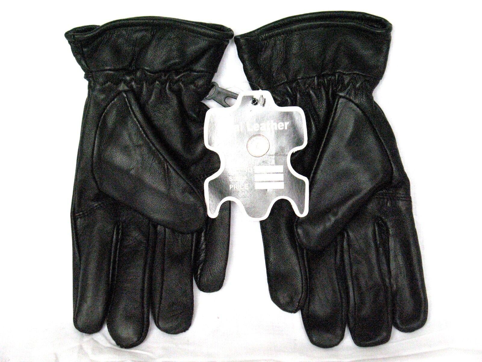 Black 100% Genuine Leather Gloves Medium L XL XXL XXXL 4XL Winter Dress Gloves