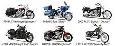 6PC HARLEY DAVIDSON MOTORCYCLE SET SERIES 31 1/18 BY MAISTO 31360-31