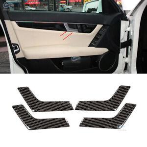 4xInterior-Door-Handle-Carbon-Fiber-Trim-Stickers-for-Mercedes-Benz-C-Class-W204
