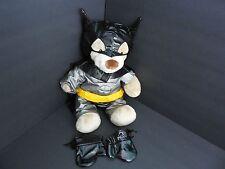 Plush Batman The Dark Knight Doll Figure Build Bear Belt Mask Gloves Super Hero