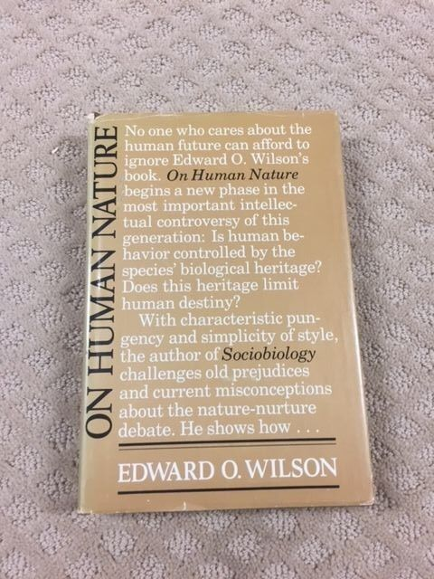 USED (VG) On Human Nature by Edward O.Wilson- WOW LOOK AT THIS BOOK NOW FIRST P7