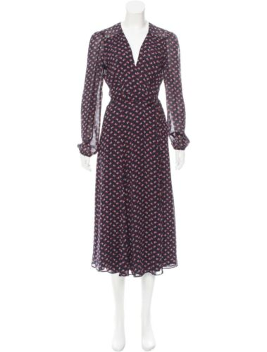 Reformation Printed Wrap Dress Size: M