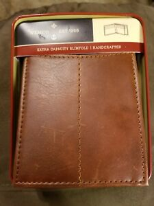 Wemco-Men-039-s-Extra-Capacity-Bifold-Wallet-Brown-9-Card-1-Bill-1-ID-Slot-New