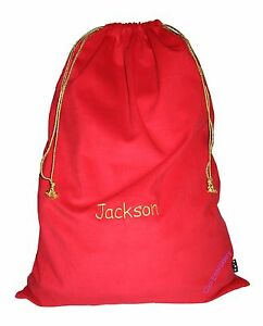 Personalised-Huge-Corduroy-Santa-Sack-bag-74cmx50cm-Gold-cord-COLOUR-CHOICE