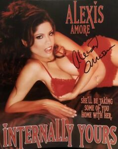 8bc4cbd383 Alexis Amore Adult STAR SIGNED 8X10 Candid PHOTO AUTOGRAPH Sexy ...