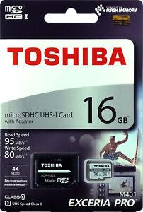 TOSHIBA-Micro-SD-Card-16GB-UHS-I-U3-4K-EXCERIA-PRO-M401-microSD-Memory-Card