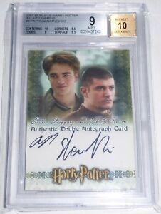 2007-World-of-Harry-Potter-3-D-Autographs-ROBERT-PATTINSON-Cedric-Diggory-BGS-9