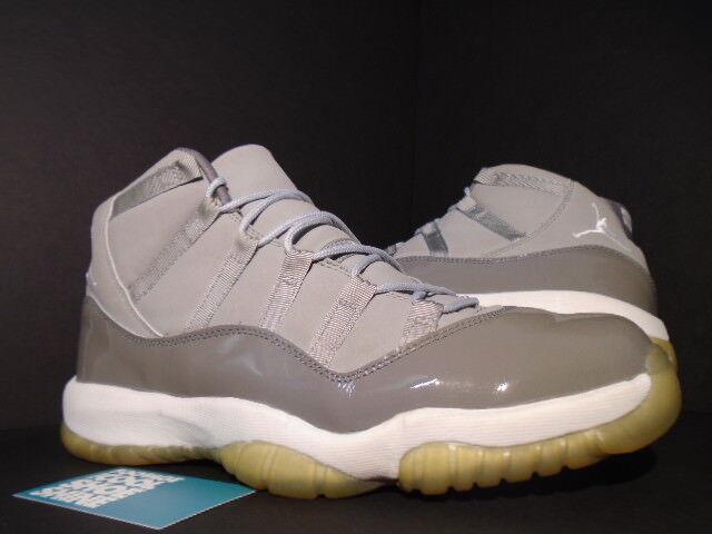 2001 Nike Air Jordan XI 11 Retro COOL GREY WHITE BLACK PATENT 136046-011 11.5