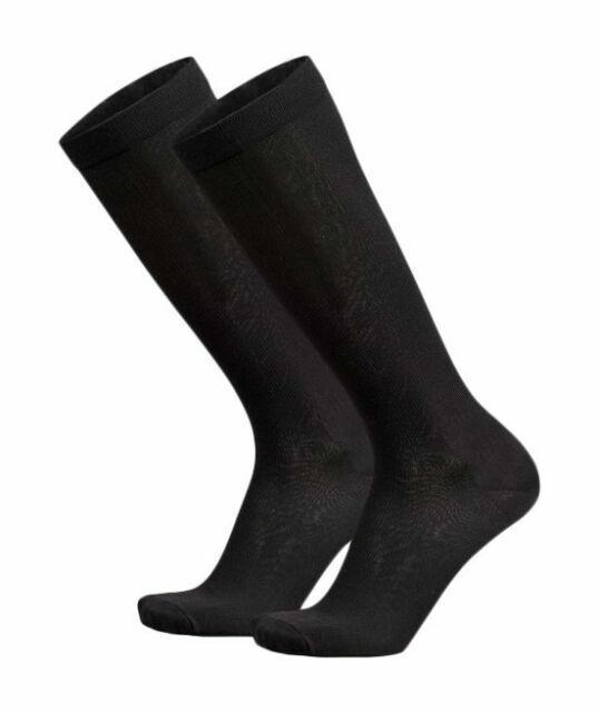 Shoe Size Black MediPEDS Men/'s 4 Pack Mild Compression Over The Calf Socks