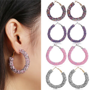 runde-glitter-crystal-anhaenger-rosa-ohrring-der-grosse-kreis-ohr-hengste