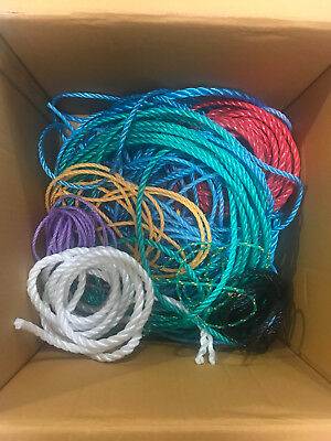 Honesty 5kg Job Lot Random Lengths Coloured Polypropylene Poly Rope Polyrope 6-14mm Marine Rope
