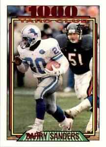 1992 Topps 1000YC #2 Barry Sanders HOF NICE INSERT Detroit Lions