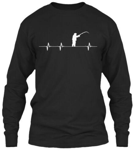 Fishing In My Heartbeat Gildan Long Sleeve Tee T-Shirt