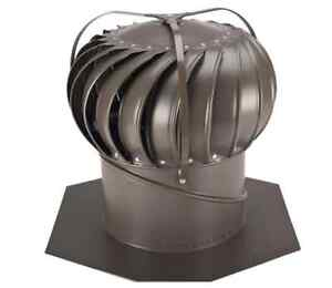 New 12 Inch Aluminum Wind Powered Roof Ventilator Wind