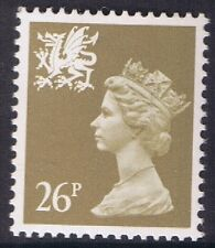 GB QEII Wales SG W62 26p Drab PP  Regional Machin Definitive