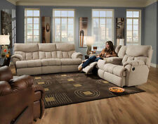 American Made Reflex - Bonded Leather or Microfiber LAY-FLAT Reclining Sofa Set