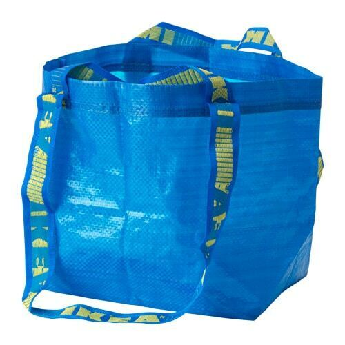 IKEA BRATTBY Bag Small Blue Frakta Shopping Laundry Grocery Tote Bags 3.5 Gallon
