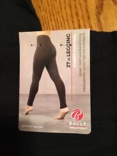 13f2aeeb8 Bally Total Fitness Womens Tummy Control Legging Medium Black Media Pocket
