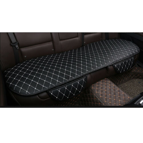 Car Rear Seat Cover PU Leather Breathable Universal Auto Cushion Chair Pad Mat