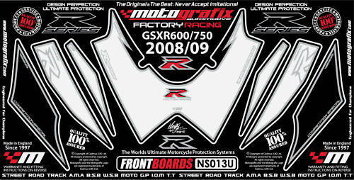 Suzuki GSXR 600 750 2008 09 10 Motorcycle Tank Pad Protector Paint Protection