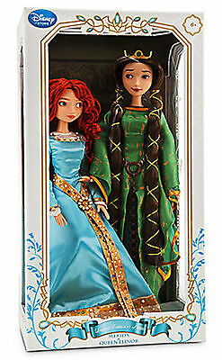 DISNEY BRAVE LIMITED EDITION MERIDA AND QUEEN ELINOR DOLL SET-NEW