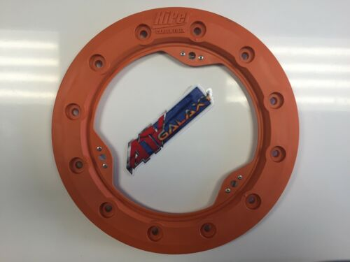 "Hiper 10/"" Modified Bead Lock Ring Wheel Ring CF1//Tech 3 Orange Beadlock Mud Plug"