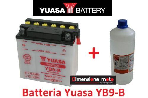 Acido per Piaggio Vespa PX 200 E dal 1998 Batteria YUASA YB9-B 12V 9Ah