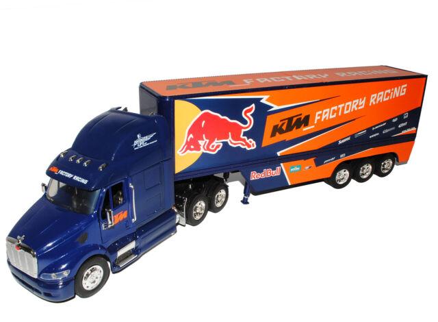 Peterbilt ktm red bull Factory Racing Team camión camión 1/32 modellcarsonline mod..