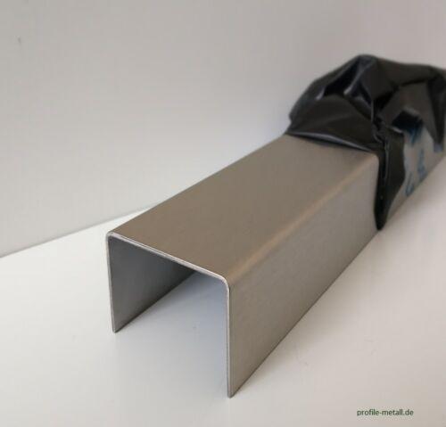 U-Leiste  Uprofil Kabelabdeckung 0,8 mm Edelstahl U-Profil magnetisch U winkel