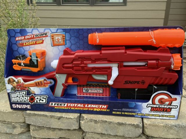 Air Warriors Red Dot Scope Snipe Dart Blaster By Buzz Bee Toys For Sale Online Ebay