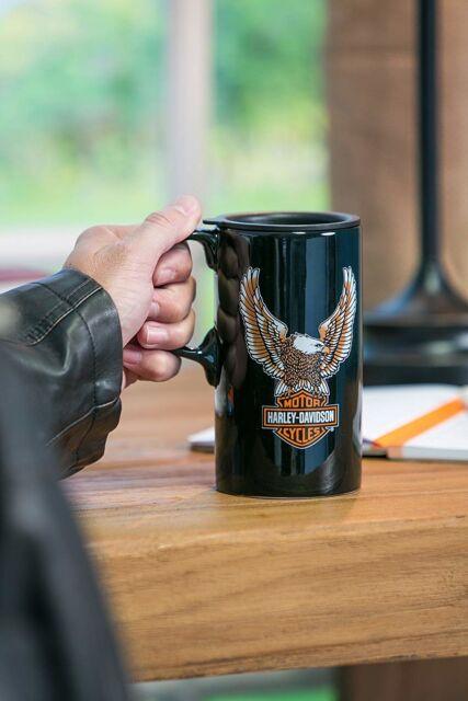 a066dc788ec Harley Davidson Travel Latte Coffee Tea Mug Bar and Shield Eagle Tall Boy  21oz