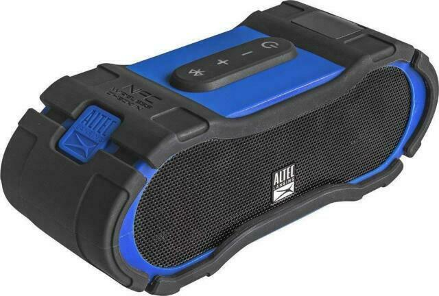 Altec Lansing Boom Jacket 10 Bluetooth Speaker Waterproof Blue Imw10s