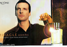 PUBLICITE ADVERTISING 125  2002  LACOME pafum homme (2p) MIRACLE