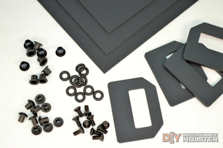 Kydex Holster DIY Kit w  OWB Pancake Wings (1.5  Belts)