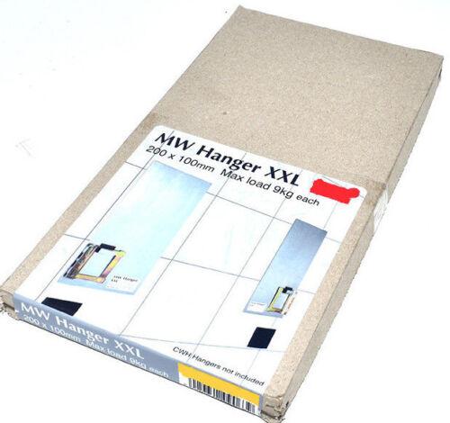 Panel Hanging Plaqué MW autocollante 200 mm x 100 mm photo miroir Hanger carrelage