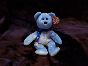Ty-Beanie-Baby-1999-American-Teddy-With-2-Spelling-Errors