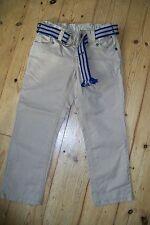 Tommy Hilfiger-biege trousers+belt.4T.Cotton.Worn once.