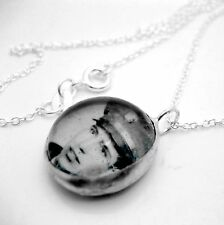 Custom keepsake photo glass bubble silver necklace BN charm personalized pendant