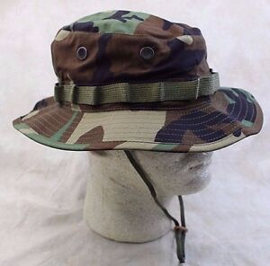 NEW GENUINE US ISSUE BOONIE HAT JUNGLE WOODLAND CAMO TYPE-III ... e00f1d98c2a9