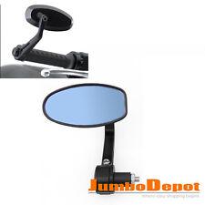 1Pcs Black Motorcycle Reversible Handle Grip Bar End Rearview Side Mirror 7/8''