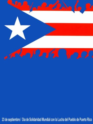824.Cuban Political Poster.Puerto Rico Independentismo.Home Interior Design