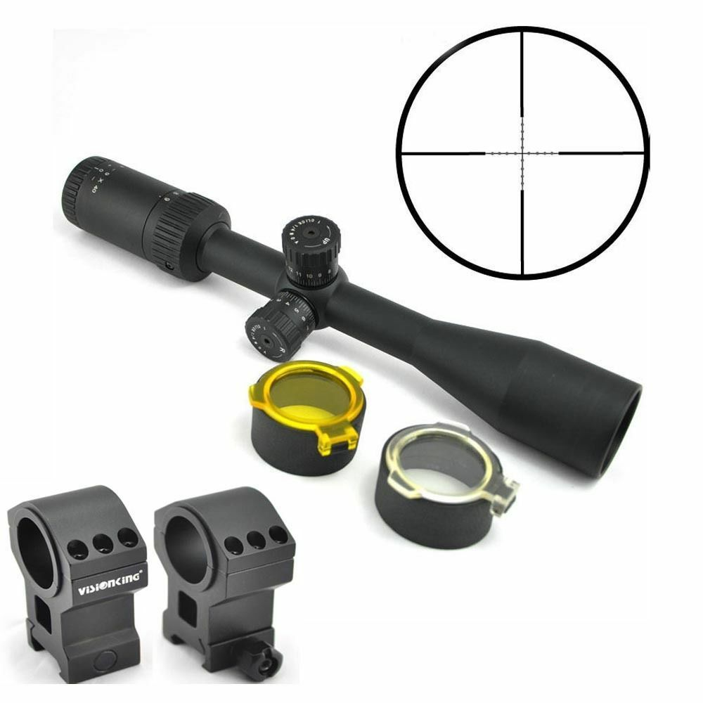Visionking 3-9x40 Rifle Scope Military Hunting Mil-Dot + Picatinny Mount rings