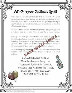 Details about Simple All Purp Wish Spell 1pgParch fr Wicca Book of Shadows  Pagan Witchdcraft