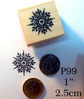 P99 Small Snowflake Rubber Stamp Wm