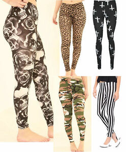 Womens-Ladies-Cross-Animal-Leopard-Print-Full-Length-Stretched-Legging-UK-8-26