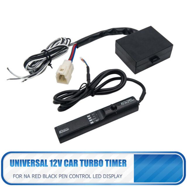 12V Red LED Display Auto Vehicle Car Turbo Timer Device Black Pen Control AU