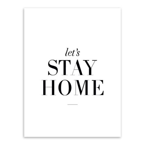 Poster Painting Let's Stay Home Wall Art Minimalist Canvas Home Decor Modern New