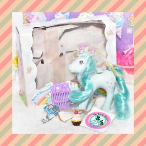 My-Little-Pony-MLP-G1-Vintage-FLUTTER-PONY-Peach-Blossom-with-Original-Box