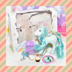 ❤️My Little Pony MLP G1 Vintage FLUTTER PONY Peach Blossom with Original Box❤️